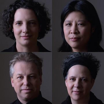 Bozzini Quartet / Also pictured: Stéphanie Bozzini, Alissa Cheung, Clemens Merkel, Isabelle Bozzini [Photo: Michael Slobodian, Montréal (Québec), January 20, 2020]