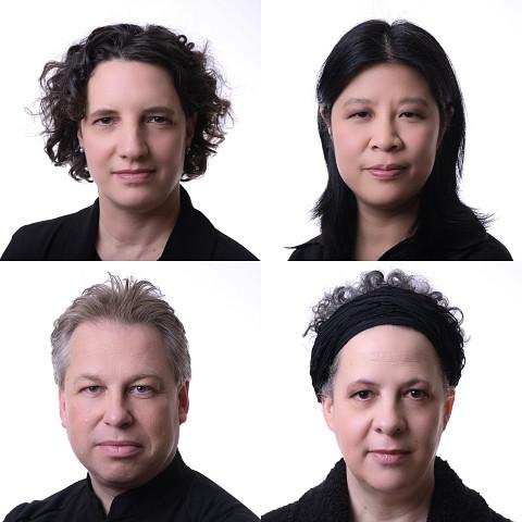 Quatuor Bozzini, Stéphanie Bozzini, Alissa Cheung, Clemens Merkel, Isabelle Bozzini [Photo: Michael Slobodian, Montréal (Québec), 20 janvier 2020]