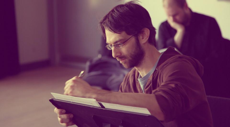 Composer's Kitchen 2013 avec Simon Martin [Photo: Lianne Finnie, Montréal (Québec), avril 2013]