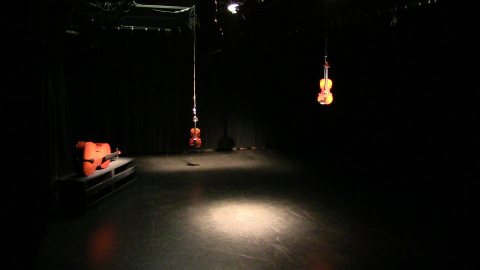 Installation: Acoustic Taxidermy: String Quartet (2016) by James O'Callaghan