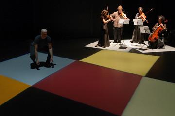 Bozzini Quartet, Marc Boivin, Mira Benjamin, Clemens Merkel, Stéphanie Bozzini, Isabelle Bozzini [Photograph: Michael Slobodian, Montréal (Québec), October 2012]