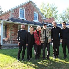 R Murray Schafer et son épouse Eleanor James avec le Quatuor Molinari [Indian River (Île-du-Prince-Édouard, Canada), 23 septembre 2018]