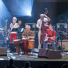 Ratchet Orchestra in concert at FIMAV, 2014 edition [Photo: Martin Morissette, Victoriaville (Québec), May 13, 2014]