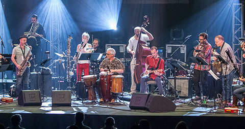 Ratchet Orchestra in concert at FIMAV, 2014 edition [Photograph: Martin Morissette, Victoriaville (Québec), May 13, 2014]