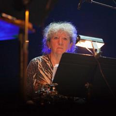 Danielle Palardy Roger in concert with Ensemble SuperMusique (ESM) at Festival international de musique actuelle de Victoriaville [Photograph: Martin Morissette, Victoriaville (Québec), May 19, 2012]