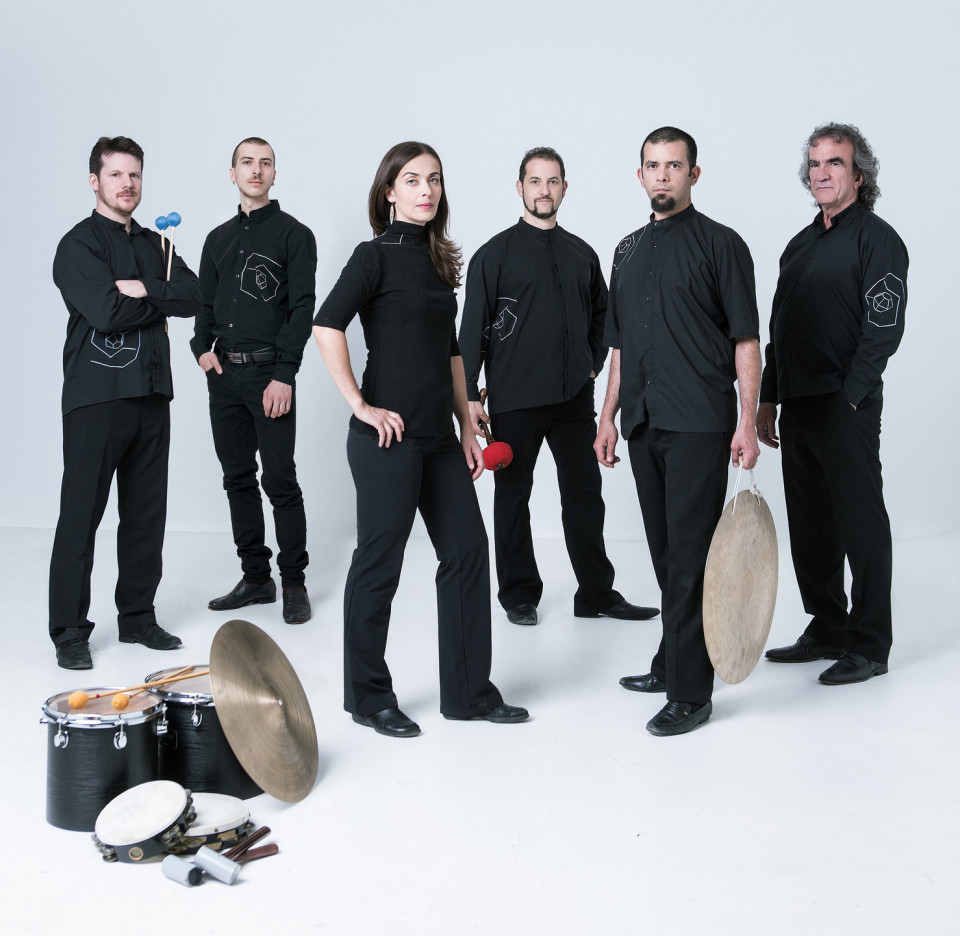 Sixtrum / Also pictured: Philip Hornsey, Kristie Ibrahim, Fabrice Marandola, João Catalão, Julien Grégoire [Photo: Hugo B Lefort, Montréal (Québec), June 2019]