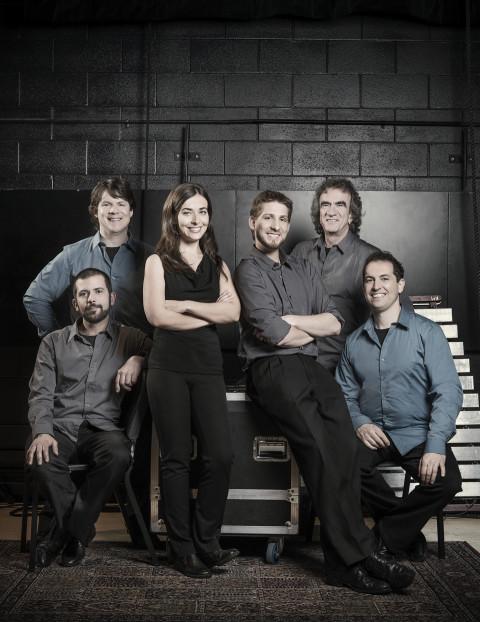 Sixtrum (João Catalão, Philip Hornsey, Kristie Ibrahim, Julien Compagne, Julien Grégoire, Fabrice Marandola) [Photo: Martin Girard, 2013]