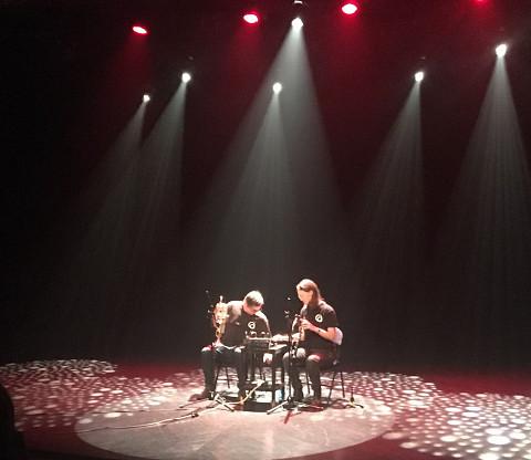 Sound of the Mountain / Aussi sur la photo: Craig Pedersen, Elizabeth Millar / Journées de la culture 2019; Journées découvertes: Atelier + concert + discussion, Amphithéâtre – Le Gesù, Montréal (Québec) [Photo: Joane Hétu, Montréal (Québec), 28 septembre 2019]