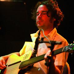 Alexandre St-Onge in concert with Ensemble SuperMusique (ESM) at Festival international de musique actuelle de Victoriaville [Photograph: Martin Morissette, Victoriaville (Québec), May 19, 2012]