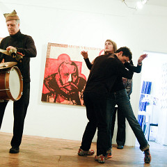 Pierre Tanguay, Julie Lassonde, Nicolas Filion [Photograph: Céline Côté, Montréal (Québec), October 10, 2009]