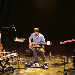 The theRNST group in concert at Le Vivier [Photograph: Céline Côté, Montréal (Québec), April 7, 2019]