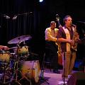 Trio Derome Guilbeault Tanguay / Also pictured: Jean Derome, Normand Guilbeault, Pierre Tanguay / L'OFF Festival de jazz de Montréal 2006: Trio Derome Guilbeault Tanguay, Lion d'Or, Montréal (Québec) [Photograph: Pierre Crépô, Montréal (Québec), June 29, 2006]