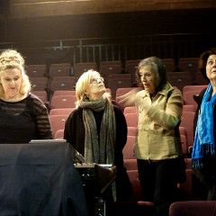 Roxanne Turcotte, Ingrid Drese, Elsa Justel, Christine Groult [Photo: Inés Wickmann, octobre 2015]