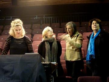 Roxanne Turcotte, Ingrid Drese, Elsa Justel, Christine Groult [Photo: Inés Wickmann, October 2015]