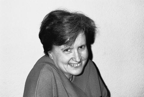 Annette Vande Gorne [Photo: Marie-Jeanne Wyckmans, Ohain (Belgium), November 1995]