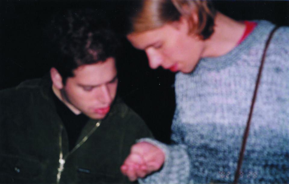Max Haiven and Jon Vaughn during the Digidome festival, Saskatoon [Saskatoon (Saskatchewan, Canada), September 28, 2002]