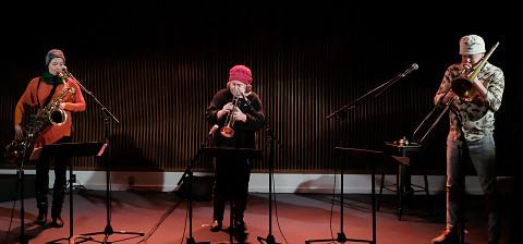 Ida Toninato, Géraldine Eguiluz, Scott Thomson / 4: Scott Thomson revisite Joane Hétu (2008) [Photo: Céline Côté, Montréal (Québec), 20 janvier 2021]