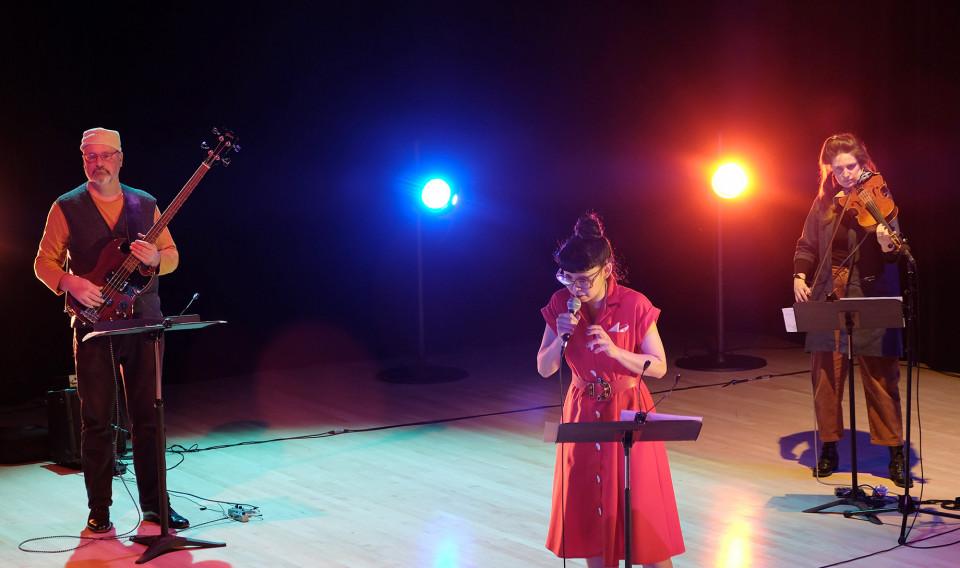 Nicolas Caloia, Maya Kuroki, Jennifer Thiessen [Photo: Céline Côté, Montréal (Québec), 8 février 2021]