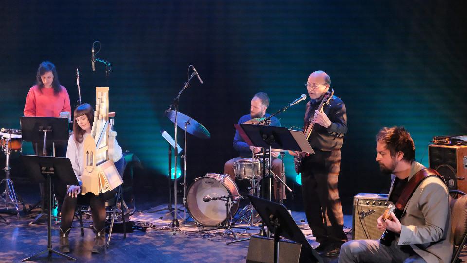 Corinne René, Katelyn Clark, Isaiah Ceccarelli, Pierre Cartier, Steve Reagele / Concert [Photograph: Céline Côté, Montréal (Québec), April 21, 2021]