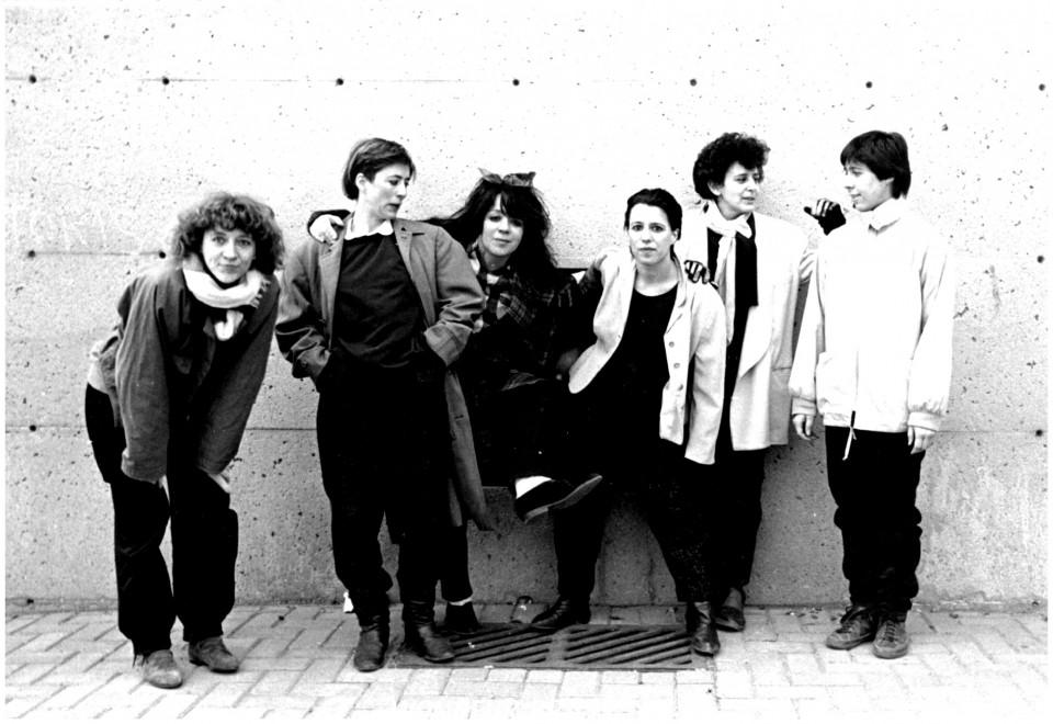 Wondeur Brass: Danielle Palardy Roger, Diane Labrosse, Judith Gruber-Stitzer, Joane Hétu, Gin Bergeron et Hélène Bédard [Photograph: Suzanne Girard, 1985]