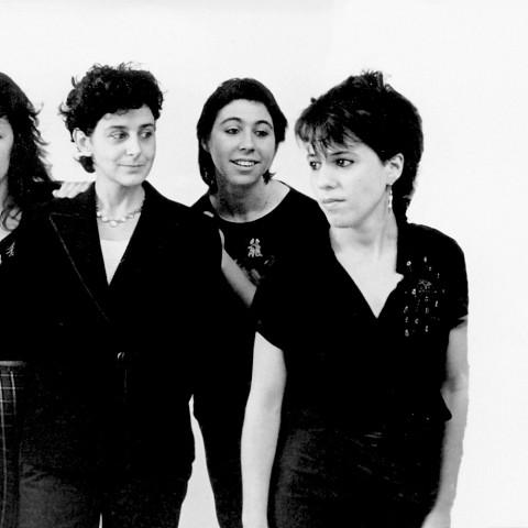 Wondeur Brass (4e formation): Danielle Palardy Roger, Judith Gruber-Stitzer, Gin Bergeron, Hélène Bédard, Joane Hétu, Diane Labrosse [Photograph: Suzanne Girard, 1984]
