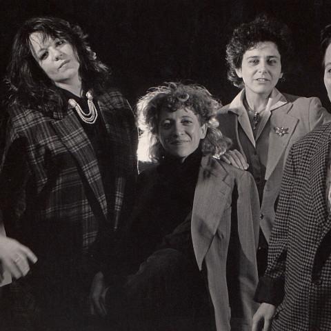 Wondeur Brass (4e formation), Danielle, la reine: Diane Labrosse, Judith Gruber-Stitzer, Danielle Palardy Roger, Gin Bergeron, Joane Hétu [Photograph: Suzanne Girard, 1986]